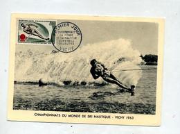 Carte Maximum 1963 Vichy Ski Nautique - 1960-69