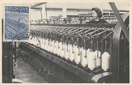Carte Maximum - Les Bancs-à-broches- Industrie Textile - 1934-1951