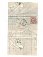 Yvert N°16 Sur  Lettre Oblitérée NOLAY PC- - 1853-1860 Napoléon III