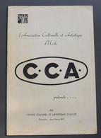 Association Culturelle Et Artistique D'Uccle - C.C.A. - Direction Jean-Pierre Ray - Finale Grand Prix De La Chanson-1960 - Programme