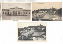 70 - Lot De 3 Cartes Postales Différentes De GRAY ( Haute-Saône ) - Gray