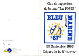 ENCART DES SUPPORTERS ALSACIENS DU VOILIER LA POSTE 1993 - Commemorative Postmarks