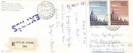 VATIKAN - POSTKARTE Mit AIRMAIL 500, 1000L 1956  /ak701 - Luftpost