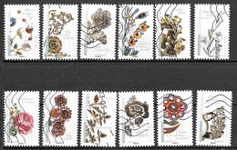 FRANCE Autoadhésifs 1410 à 1421 Fleurs Et Métiers D'art 2017 - Autoadesivi