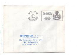 1 ER JOUR FLAMME PORT PAYE DE PALAISEAU ESSONNE 1971 - Mechanical Postmarks (Advertisement)