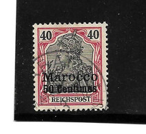 DTPA019 / Dt. Post Marokko, Mi.Nr. 27  O - Deutsche Post In Marokko