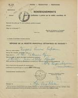 Document De Renseignements N° 775 Des PTT Oblitéré De LYON RP Dossiers De Sociétés 13-12-1950 - 1921-1960: Periodo Moderno