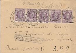 Griffe Encadrée Expres -Spoedbestelling Vers Mr CAREZ 8ème Régiment De Ligne Peloton Special ABO Verso PMB 1A - 1922-1927 Houyoux