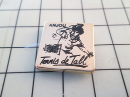 1018a Pin's Pins / Rare & De Belle Qualité !!! THEME SPORTS / PING PONG TENNIS DE TABLE ANJOU Feu ! - Table Tennis