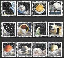 FRANCE Autoadhésifs 1324 à 1335 Correspondances Planétaires 2016 - Autoadesivi