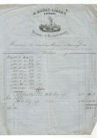 Facture De H.Henry-Libert  Banque  à Dinant De 1857. - 1800 – 1899