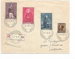 SH 0664. N° 302/304-402 Ambt HERBESTHAL-BRUSSEL(BRUXELLES) 14.7.36 S/Lettre RECOMMANDEE Vers Ostende. TB - Brieven En Documenten