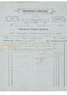 2 Factures De NEUFCHATEAU  Imprimerie-Librairie-Editeur  Maximi.-Théoph.Louis 1861 Et 1872 - 1800 – 1899