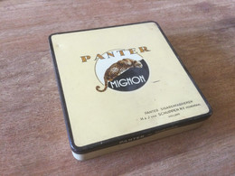 Boîte En Fer 20 Cigares PANTER MIGNON - Scatola Di Sigari (vuote)