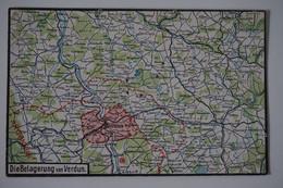 #67 AK: Feldpost Die Belagerung Von Verdun Landkarte Stellungen Frontverlauf - Guerre 1914-18