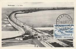 Carte Maximum -  Zeebrugge - Le Môle - 1951-1960