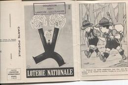 CARNET DU COMITE DES COLONIES DE VACANCES AVEZ A L'INTERIEUR UNE CARTE SUR LA LOTERIE NATIONALE - Unclassified