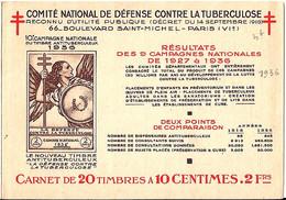 "CARNET ""ANTI TUBERCULOSE"" DE 1936 COMPLET ET EN BON ETAT - Tegen Tuberculose"