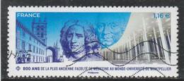 FRANCE 2020 - 800 ANS DE PLUS ANCIENNE FACULTE DE MEDECINE MONTPELLIER OBLITERE YT 5404 - Used Stamps