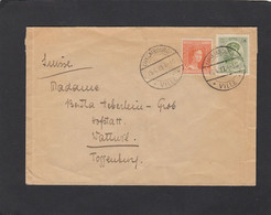LETTRE AVEC AFFRANCHISSEMENT MIXTE(103 ET 122) POUR WATTWIL. - 1914-24 Marie-Adélaïde