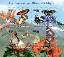 Togo 2011 MNH - Butterflies & Flowers Of Africa. YT 2704-2707, Mi 4117-4120 - Togo (1960-...)