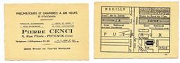 Carte De Visite Ancienne / Pierre CENCI à Puteaux (voitures, Etc) - Visiting Cards