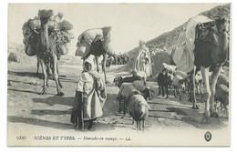 CPA ALGERIE /  NOMADES EN VOYAGE / NEUVE - Plaatsen