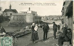 GD  29 CONCARNEAU La Ville Close Le Passage De Lanriec Le Cercle Des Loups De Mer - Concarneau