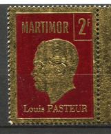 FRANCE MARTIMOR VIGNETTE 2F ROUGE LOUIS PASTEUR - Louis Pasteur