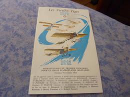 MENU BANQUET ANNUEL LES VIEILLES TIGES 1971 AVIATION AVION AVIATEUR - Pubblicitari