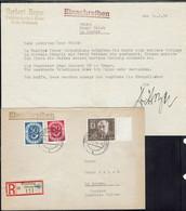 Affranchissement Cor Postal + N° 103 Berlin à 70 P Sur Env. Rec. De Griesbach Pour La Moubra Suisse. CAD Pocking 10-2-54 - Lettres & Documents