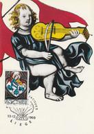 Carte Maximum - Liège - Eglise St-Jacques - Vitrail Jacques De Hernes (détail) - 1961-1970