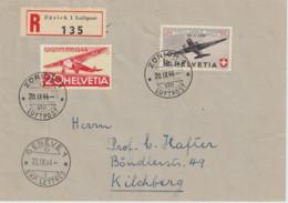 Schweiz MNr. 438 FDC Auf R-Brief - Briefe U. Dokumente