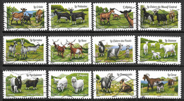 FRANCE Adhésif 1096 à 1107 Chèvres 2015 - Autoadesivi