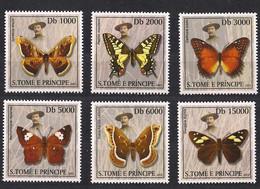 St-Thomas Et Principe Sao Tome 2003 Yvertn° 1362-1367 *** MNH Cote 12,50 Euro Faune Papillons Butterflies Vlinders - Vlinders