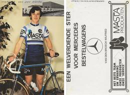 CARTE CYCLISME WILFRIED VAN DEN BROEK 1980 ( DECOUPE, FORMAT10 X 14,8 ) - Cycling