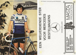 CARTE CYCLISME LUDO ENGELEN 1980 ( DECOUPE, FORMAT10 X 14,8 ) - Cycling