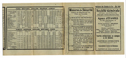 Indicateur De Chemins De Fer Et Autobus / 1931 / Publicité Société Générale - Europe