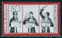 BRD - Mi 894 - ** Postfrisch (B) - 50Pf              Carl Maria Von Weber - Unused Stamps