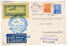 M672 First Traffic Airmail Flight Debrecen 1934 - Cartas