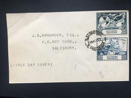 SOUTHERN RHODESIA UPU FDC Cover Salisbury Internal - Southern Rhodesia (...-1964)