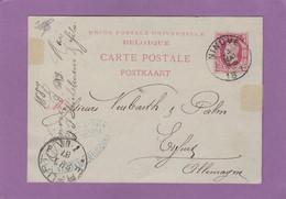 REPIQUAGE. EP DE NINOVE POUR ERFURT. - Postkaarten [1871-09]