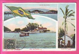 CPA BRAZIL BRESIL SAHIDA DO PORTO BARRA DE SANTOS ILHA DAS PALMAS II PONTA DE PRAIA - Unclassified