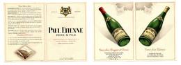 Dépliant Publicitaire Paul Etienne / Propriétaire Et Négociant En Vins / Côtes Du Rhône / Saint-Péray (Ardèche) - Publicités