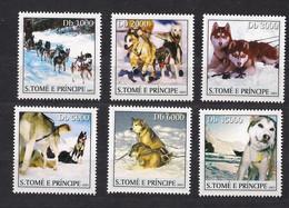 St-Thomas Et Principe Sao Tome 2003 Yvertn° 1584-1589 *** MNH Cote 12,50 Euro Faune Chiens Dogs Honden - Perros