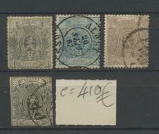 22-25. Cote 410,- Euros Minimum En Ø Même Si Le 23 Est (*) - 1866-1867 Coat Of Arms