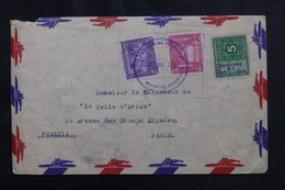 VENEZUELA - Enveloppe Pour La France En 1947 Par Avion, Affranchissement Avec Fiscal Surchargé - L 72956 - Venezuela