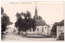 Toury-Lurcy - La Place De L'Eglise - édit. L. Blot  + Verso - Sonstige Gemeinden