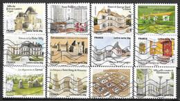 FRANCE Adhésif 865 à 876 Patrimoine  2013 - Sellos Autoadhesivos