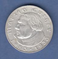 Deutsches Reich Silber-Gedenkmünze Martin Luther 2 Mark 1933 A Vorzüglich - 5 Reichsmark